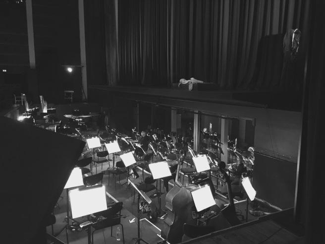 Orkestergrav i Esbjerg Musikhus